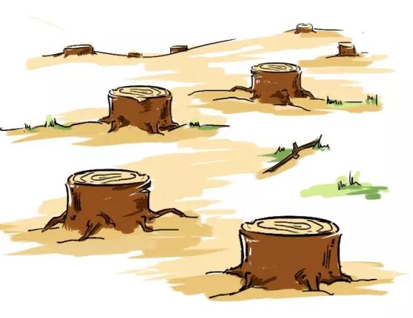 破坏地球卡通图片